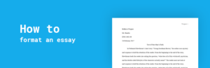 format an essay
