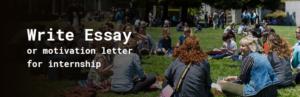 write essay or motivation letter for internship